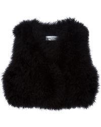 Sonia Rykiel Feathers Vest black - Lyst
