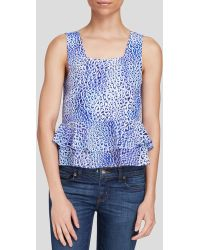 Rebecca Taylor Top - Leo Pever Sleeveless Silk Ruffle Crop - Lyst