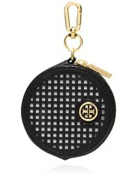 Tory Burch Robinson Perforated Circle Zip Coin Case - Lyst