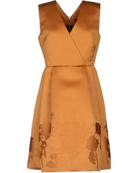 Jonathan Saunders Orange Kneelength Dress - Lyst