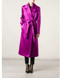 Barbara Casasola - Belted Coat - Lyst