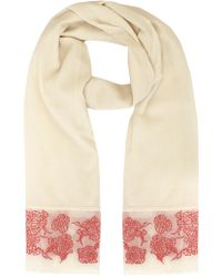 Coast Embroidered Scarf - Lyst