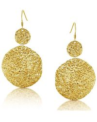 Belcho | Hammered Cascading Disks Earrings | Lyst