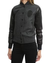 Lucien Pellat Finet | Teddy Skull Leather Jacket | Lyst