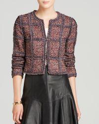 Diane von Furstenberg Ruffled Tweed Jacket - Lyst