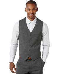 Perry Ellis Gray Suit Vest - Lyst