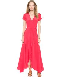 Helena Quinn - Kate Wrap Dress - Cherry Red - Lyst