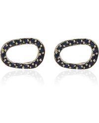 Pamela Love Silver Sapphire Revolution Earrings - Lyst