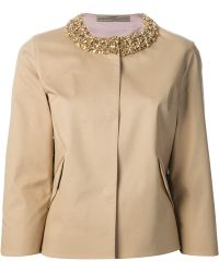 Ermanno Scervino Embellished Cropped Jacket - Lyst