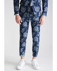 Forever 21 Rose-Patterned Denim Pants - Lyst