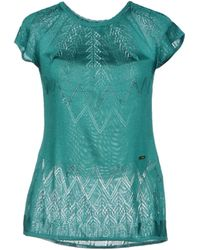 Just Cavalli Green Jumper - Lyst