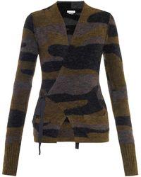 Isabel Marant Varyia Camouflage Wrap Cardigan - Lyst