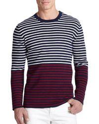 Michael Kors Cotton & Cashmere Crewneck Sweater - Lyst