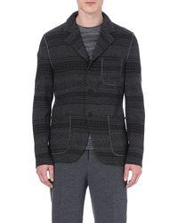 Missoni Striped Woolblend Blazer Grey - Lyst