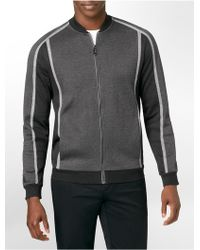 Calvin Klein White Label Premium Classic Fit Heathered Colorblock Zip Front Jacket - Lyst