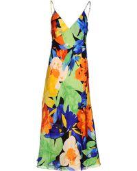 Ralph Lauren 3/4 Length Dress - Lyst