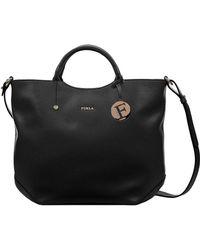 Furla Alissa Leather Large Tote Bag - Lyst