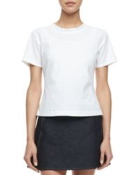 Theory Flare Luxe Blouse with Back Zip - Lyst