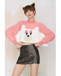 Lazy Oaf - Oaf Bear With Me Faux Fur Sweatshirt - Lyst