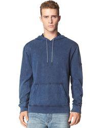 Calvin Klein Jeans Indigo Hoodie - Lyst