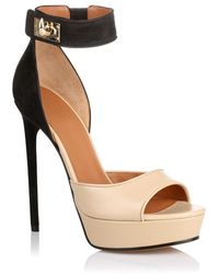 Givenchy Nabuck and Taupe Sandal - Lyst