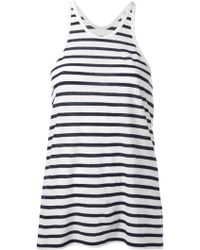 T By Alexander Wang Striped Vest Top - Lyst