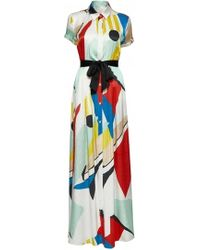 Alice + Olivia Arlen Tie Belt Maxi Shirt Dress - Lyst