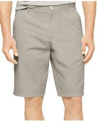Calvin Klein Chino Walking Shorts brown - Lyst