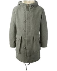Harnold Brook - Fine Knit Parka Coat - Lyst