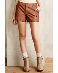 Pilcro Quilted Vegan Leather Shorts - Lyst