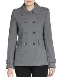 Calvin Klein Double-Breasted Wool-Blend Peacoat - Lyst