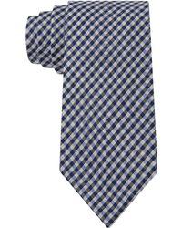 Calvin Klein Indigo Shirting Gingham Slim Tie - Lyst