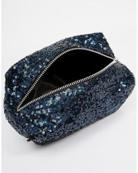 Jaded London - Black Holographic Sequin Make-Up Bag - Lyst