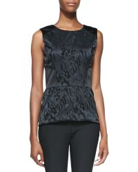 Veronica Beard Sleeveless Leopard Silhouette Top - Lyst