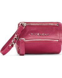 Givenchy Magenta Sugar Leather Pandora Coin Purse - Lyst