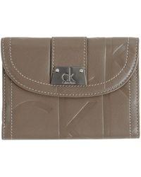 Calvin Klein Wallet khaki - Lyst