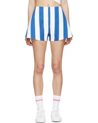 Jacquemus - Blue And White Striped Parasol Shorts - Lyst
