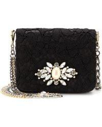 Dolce & Gabbana Karlie Crystal-Embellished Lace Shoulder Bag - Lyst