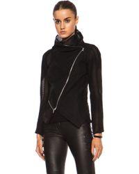 Yigal Azrouel Linear Tulle Wollblend Jacket - Lyst
