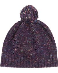 See By Chloé - Wool Blend Beanie Hat With Pompom - Lyst