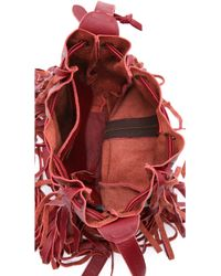 Cleobella - Vanna Fringe Bucket Bag - Oxblood - Lyst