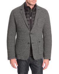 Woolrich Hills Black Wool/Cotton Blend Jacket - Lyst