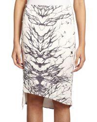 Haute Hippie Silk Bird-Print Pencil Skirt - Lyst