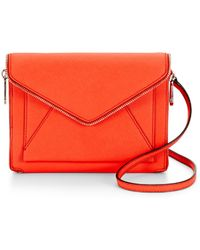 Rebecca Minkoff Orange Marlowe Mini - Lyst