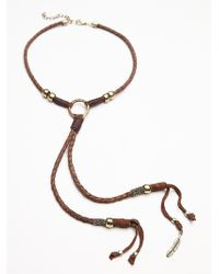 Free People Womens Lawless Leather Bolo - Lyst
