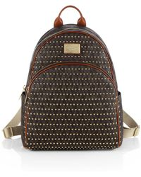 Michael by Michael Kors Large Studded Logoprint Backpack - Lyst