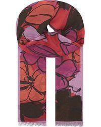 Paul Smith Black Label - Floral Print Scarf - Lyst