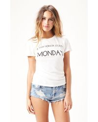 Wildfox Tiny Horror Story Tourist Crew - Lyst