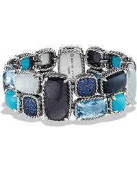 David Yurman Mosaic Bracelet with Black Orchid and Turquoise - Lyst