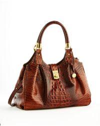 Brahmin Elisa Leather Satchel Bag - Lyst
